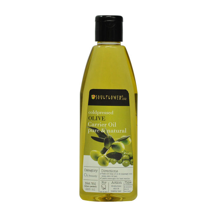 Buy Soulflower Cold Pressed Olive Carrier Oil (225 ml)-Purplle
