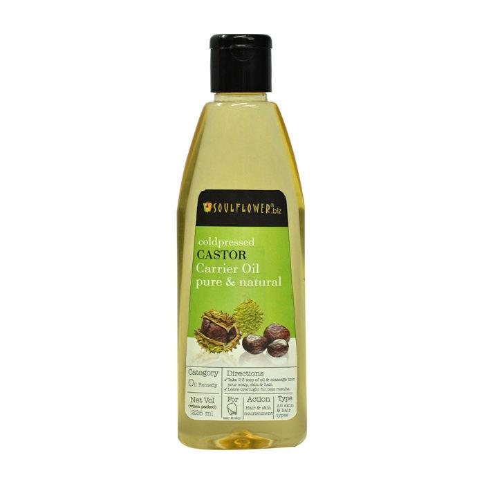 Buy Soulflower Cold Pressed Castor Carrier Oil (225 ml)-Purplle