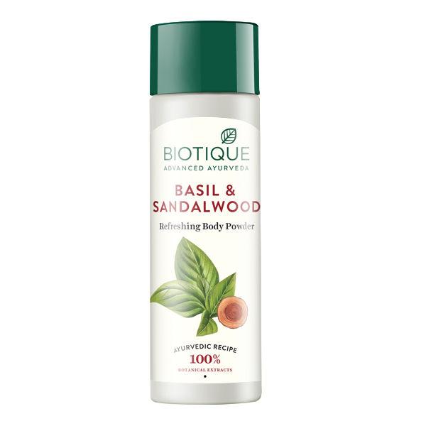 Buy Biotique Basil & Sandalwood Refreshing Body Powder (150 g)-Purplle