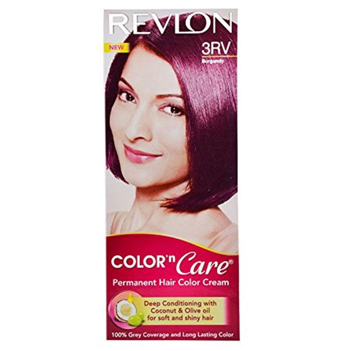 Buy Revlon Color N Care Permanent Hair Color Cream - Burgundy 3Rv 40 g-Purplle