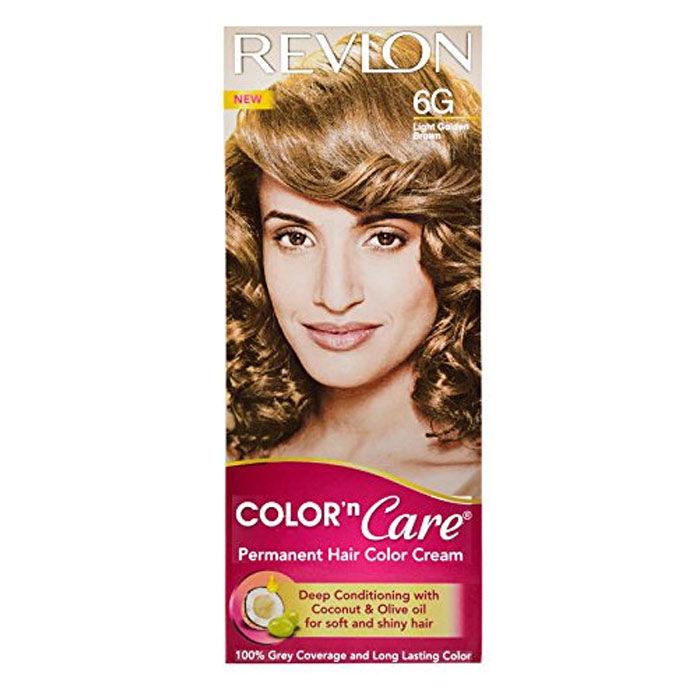 Buy Revlon Color N Care Permanent Hair Color Cream - Light Golden Brown 6G (40 g)-Purplle