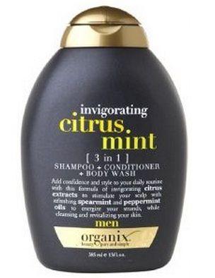 Buy OGX Invogorating Citrus Mint 3 in 1 Shampoo + Conditioner + Body Wash For Men (385 ml)-Purplle