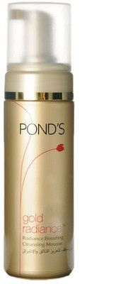 Buy Ponds Gold Radiance Boosting Cleansing Mousse (150 ml)-Purplle