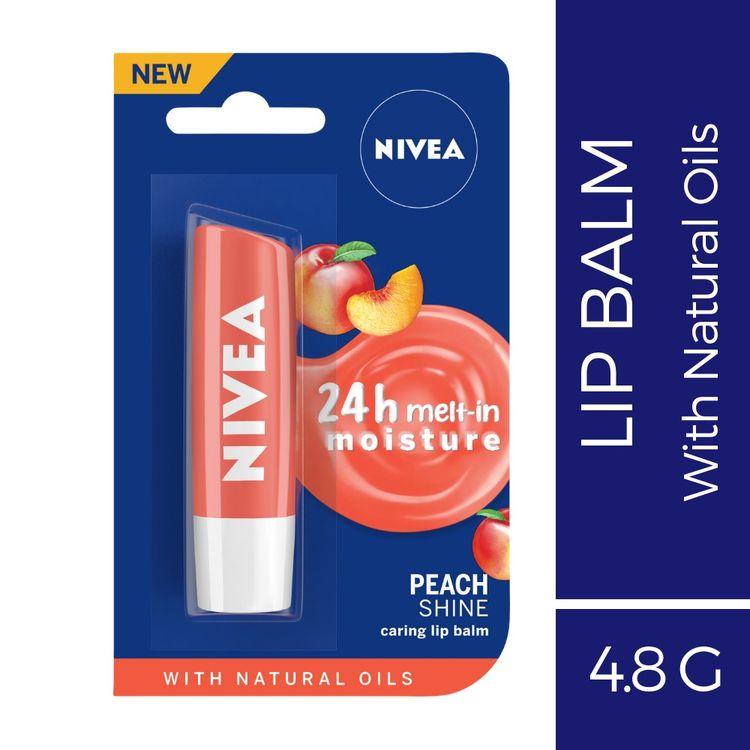 Buy Nivea Lip Balm, Fruity Peach Shine (4.8 g)-Purplle