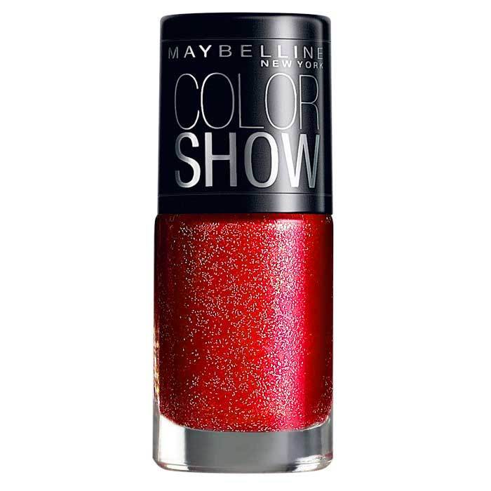 Buy Maybelline New York Color Show Nail Polish Glam Red Carpet 604-Purplle