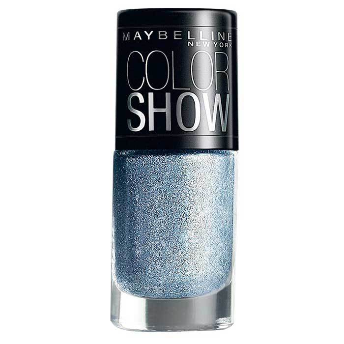 Buy Maybelline New York Color Show Nail Polish Glam Bling On The Blue 608-Purplle