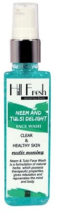 Buy Hill Fresh Neem & Tulsi Delight Face Wash (128 g)-Purplle