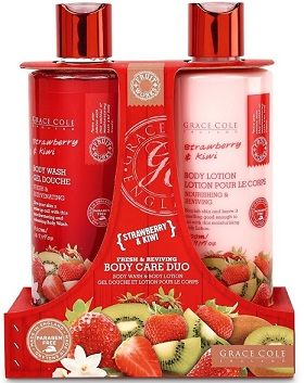 Buy Grace Cole Strawberry & Kiwi Fresh & Reviving Body Wash & Body Lotion-Purplle