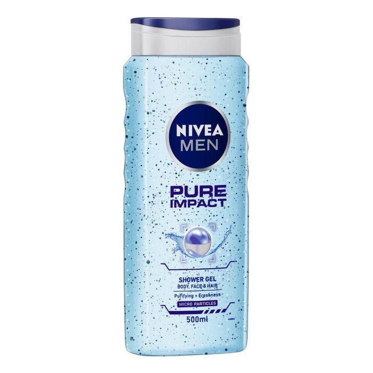 Buy NIVEA MEN Shower Gel Pure Impact Body Wash Men 500ml-Purplle