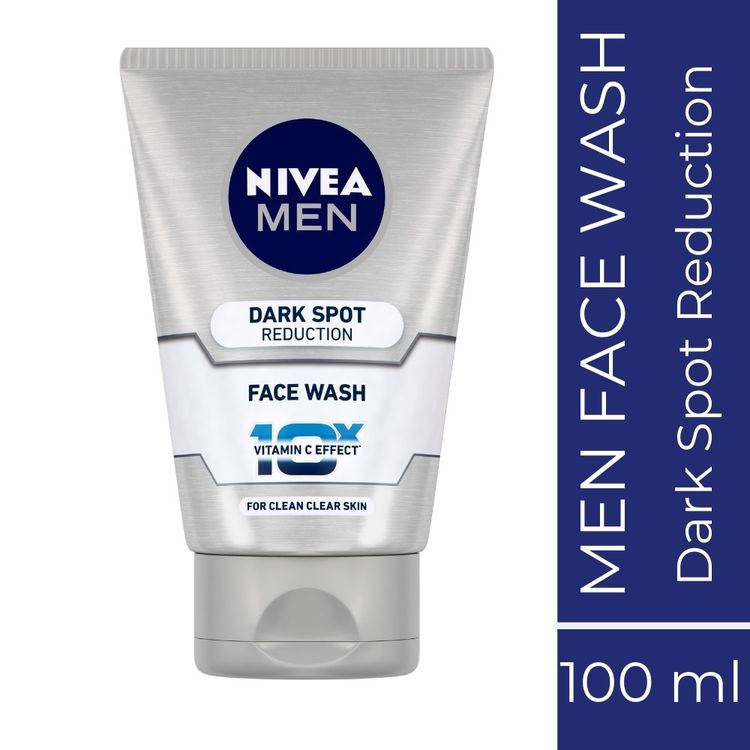 Buy Nivea MEN Face Wash, Dark Spot Reduction, 10x Vitamin C (100 ml)-Purplle