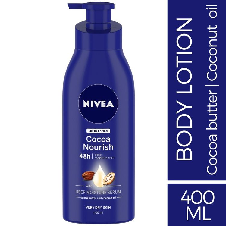 Buy Nivea Body Lotion, Oil in Lotion Cocoa Nourish, For Very Dry Skin (400 ml)-Purplle