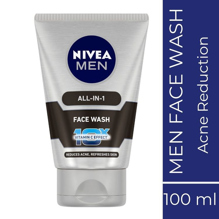Buy Nivea MEN Face Wash, All In One, 10x Vitamin C (100 ml)-Purplle