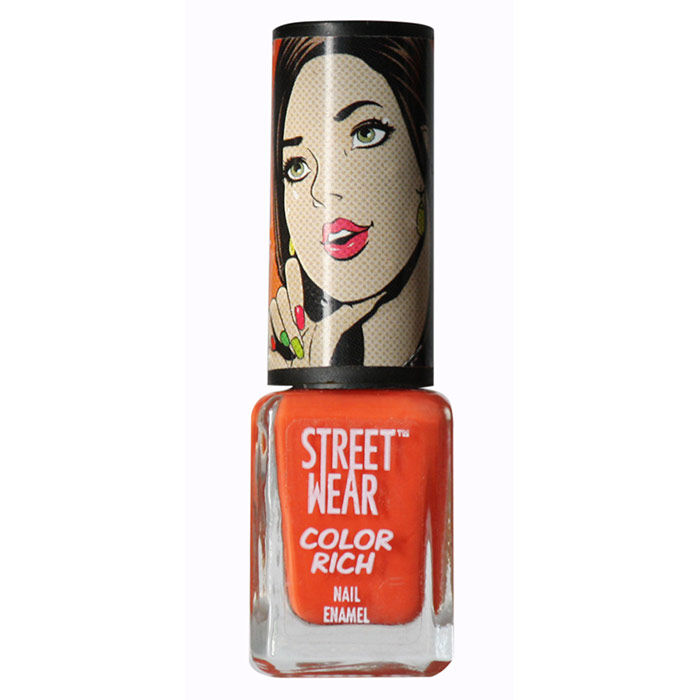 Buy Streetwear Color Rich Nail Enamel - Saucy Orange 38 (5 ml)-Purplle