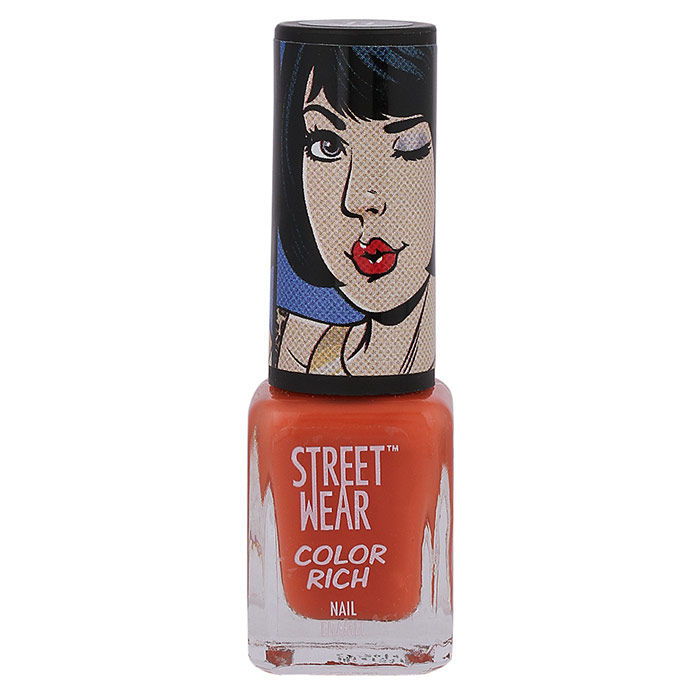 Buy Streetwear Color Rich Nail Enamel - Risque Red (5 ml)-Purplle