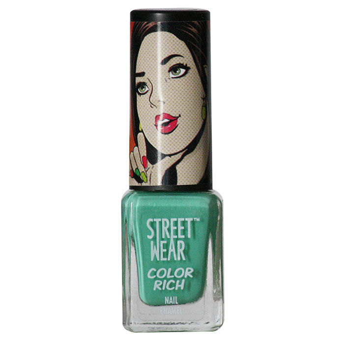 Buy Streetwear Color Rich Nail Enamel - Dragonfly Green (5 ml)-Purplle