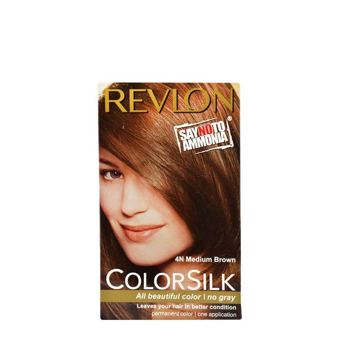 Buy Revlon Colorsilk Hair Color Medium Brown 4N-Purplle