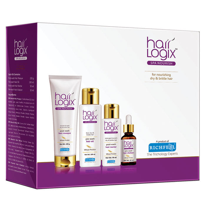 Buy Richfeel Hair Logix SPA Nourish Kit-Purplle