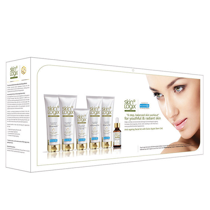 Buy Richfeel Skin Logix Anti Ageing Facial Kit With Swiss Apple Stem Cells-Purplle