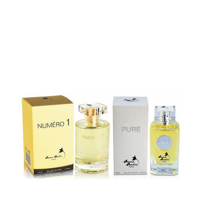 Buy Anna Andre Paris Set of Numero 1 (110 ml) & Pure (100 ml) Perfumes-Purplle