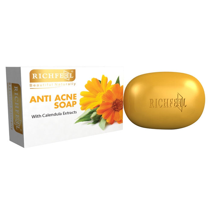 Buy Richfeel Calendula Soap for Acne (75 g)-Purplle