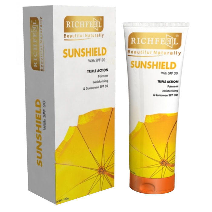 Buy Richfeel Sunshield With SPF-30 (100 g)-Purplle