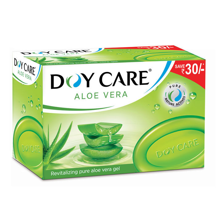 Buy Doy Care Aloe Vera Soap (125 g) (Pack of 4) Save Rs. 30-Purplle