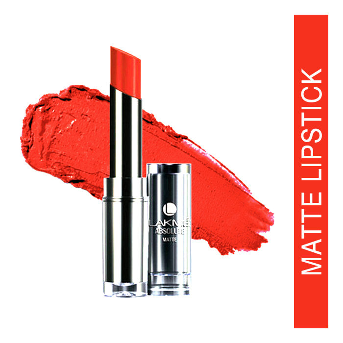 Buy Lakme Absolute Matte Lipstick Peach Pout (3.7 g)-Purplle