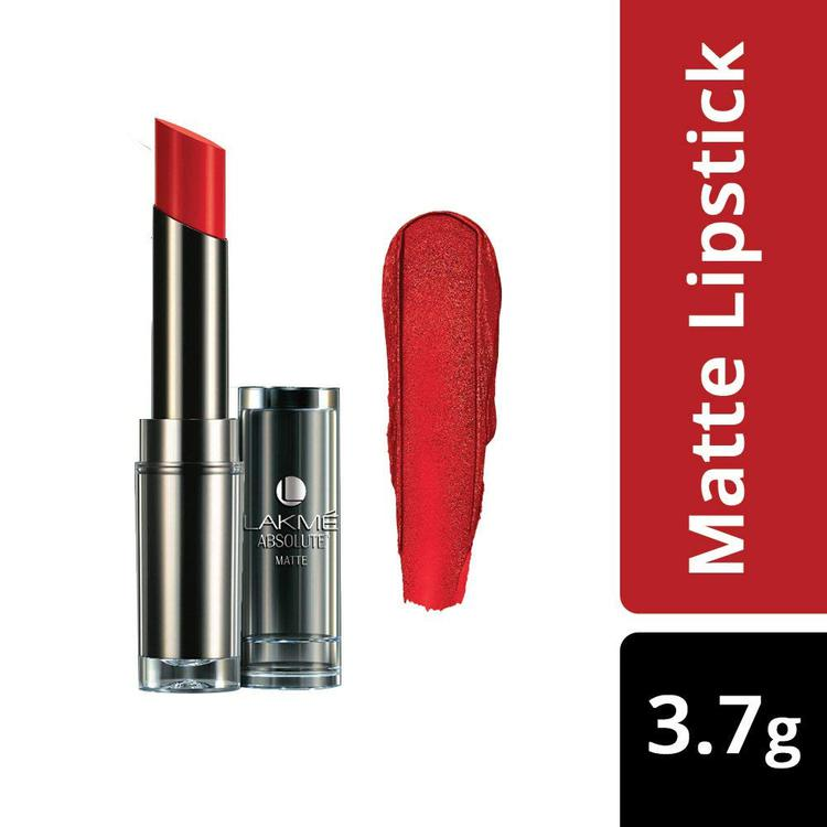 Buy Lakme Absolute Matte Lipstick Red Rush (3.7 g)-Purplle