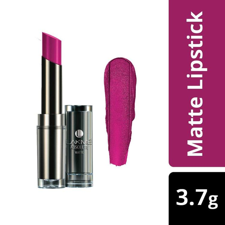 Buy Lakme Absolute Matte Lipstick Pink Glam (3.7 g)-Purplle