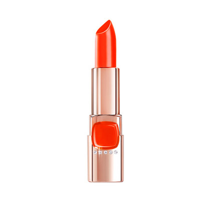 Buy L'Oreal Paris Color Riche Moist Matte Swarovski Lipstick Orange Power C511-Purplle