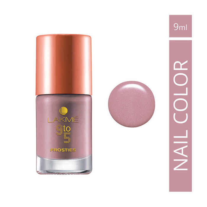 Buy Lakme 9 to 5 Frosties Nail Color Mauve Frost (9 ml)-Purplle