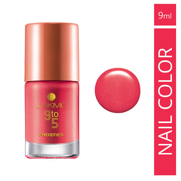 Buy Lakme 9 to 5 Frosties Nail Color Pink Frost (9 ml)-Purplle