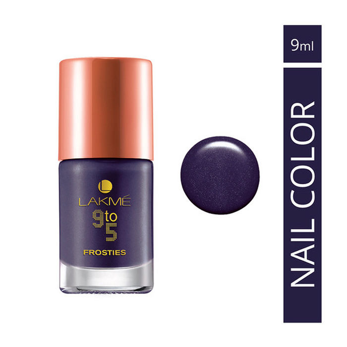 Buy Lakme 9 to 5 Nail Frosties Purple Frost (9 ml)-Purplle