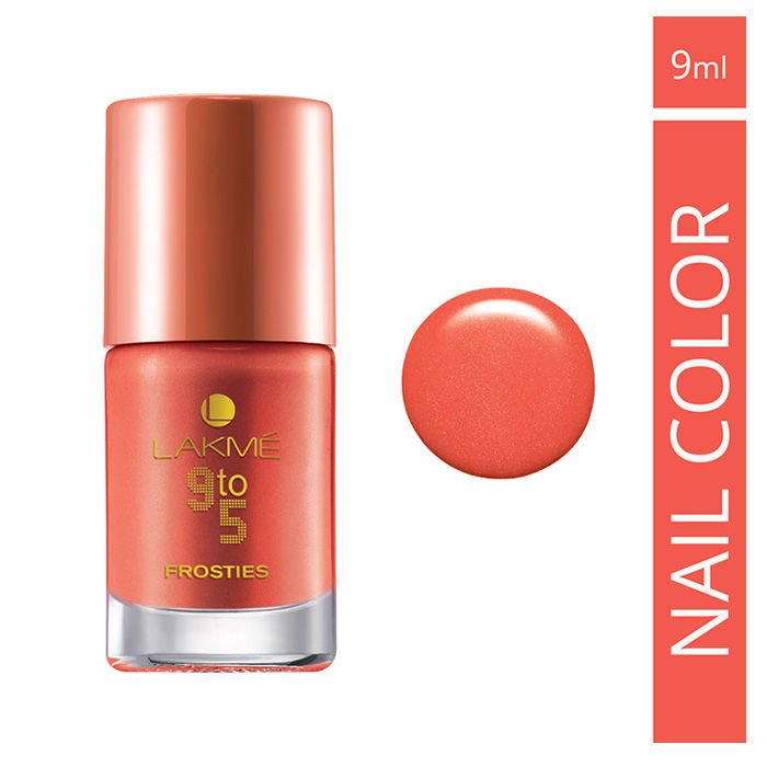 Buy Lakme 9 to 5 Nail Frostees Peach Frost (9 ml)-Purplle