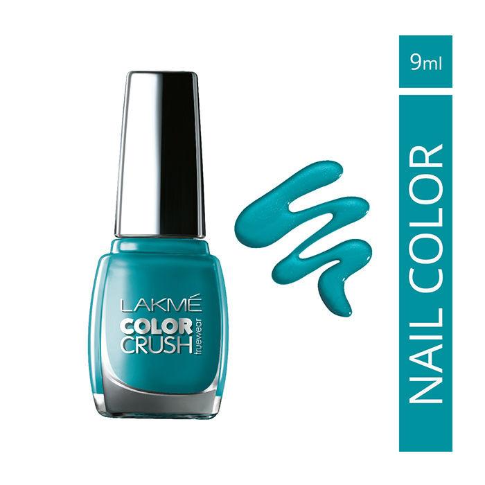 Buy Lakme True Wear Color Crush Nail Color Blue 27 (9 ml)-Purplle