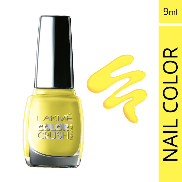 Buy Lakme True Wear Color Crush Nail Color Yellow 53 (9 ml)-Purplle