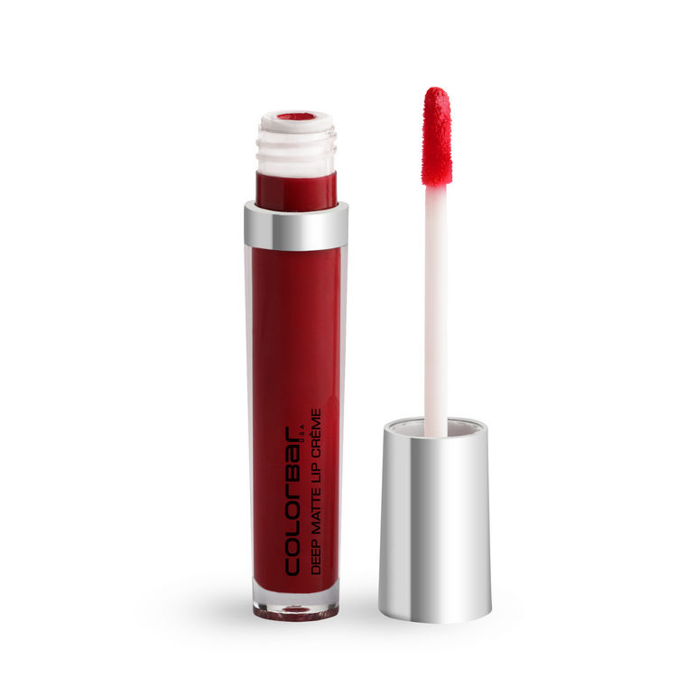 Buy Colorbar Deep Matte Lip Creme Deep Red 001 - Red (6 ml)-Purplle
