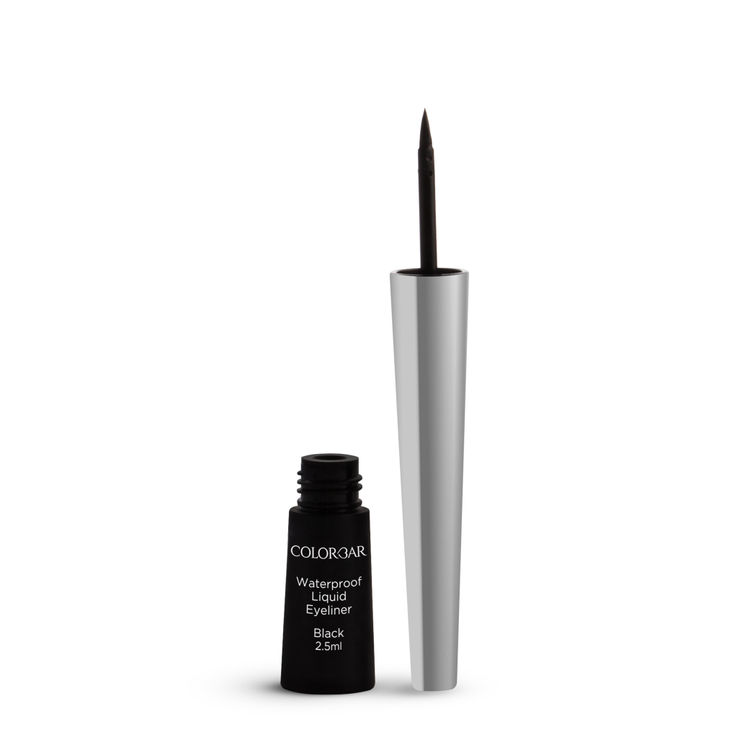 Buy Colorbar Precision Waterproof Eyeliner With Shiny Silver Cap Black (2.5 ml)-Purplle