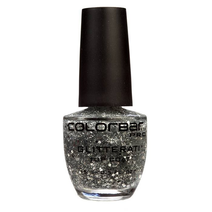 Buy Colorbar Glitterati Top Coat Retro Silver 001 (15 ml)-Purplle