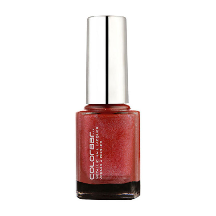 Buy Colorbar Mettalic Nail Lacquer Red Diamond (9 ml)-Purplle