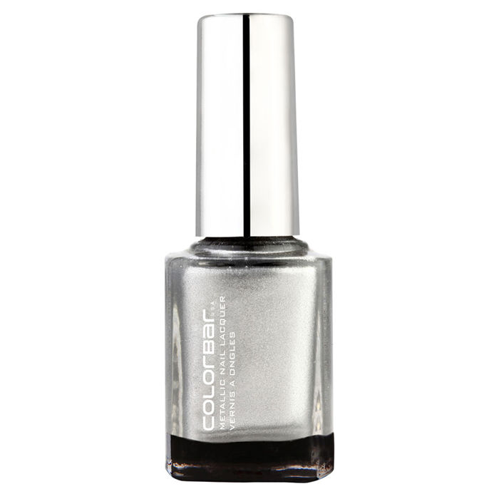 Buy Colorbar Metalic Nail Lacquer Silverlining 012 (9 ml)-Purplle