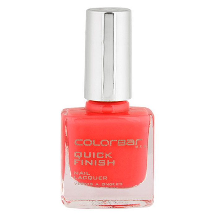 Buy Colorbar Quick Finish Nail Laqure Twisted Peach 17 (9 ml)-Purplle