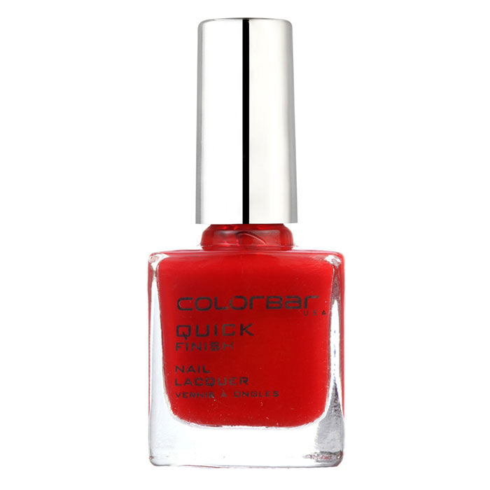 Buy Colorbar Quick Finish Nail Lacquer Fearless Red 18 (9 ml)-Purplle