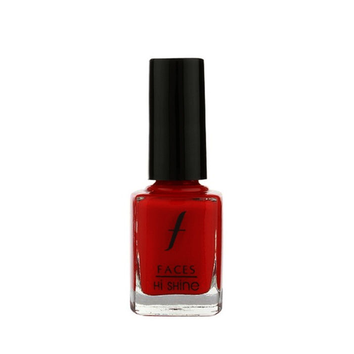 Buy Faces Canada Hi Shine Nail Enamel Bright Red 71 (9 ml)-Purplle