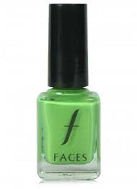 Buy Faces Canada Hi Shine Nail Enamel Kermit Green (9 ml)-Purplle