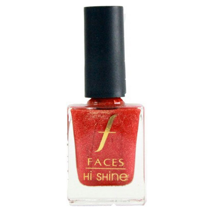 Buy Faces Canada Hi Shine Nail Enamel Together Forever- Red 123 (9 ml)-Purplle