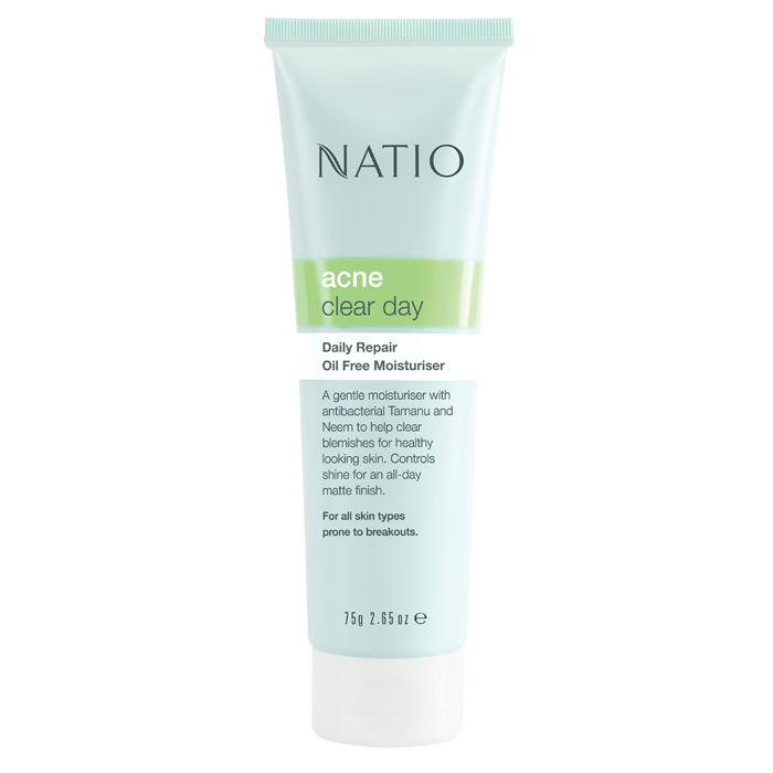 Buy Natio Acne Clear Day Daily Repair Oil Free Moisturiser (75 g)-Purplle