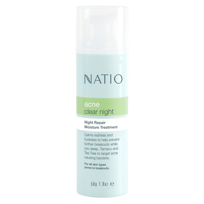 Buy Natio Acne Night Repair Moisture Treatment (50 g)-Purplle