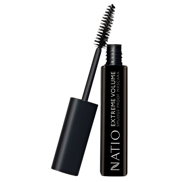 Buy Natio Extreme Volume Smudge Proof Mascara Brown Black (10 ml)-Purplle