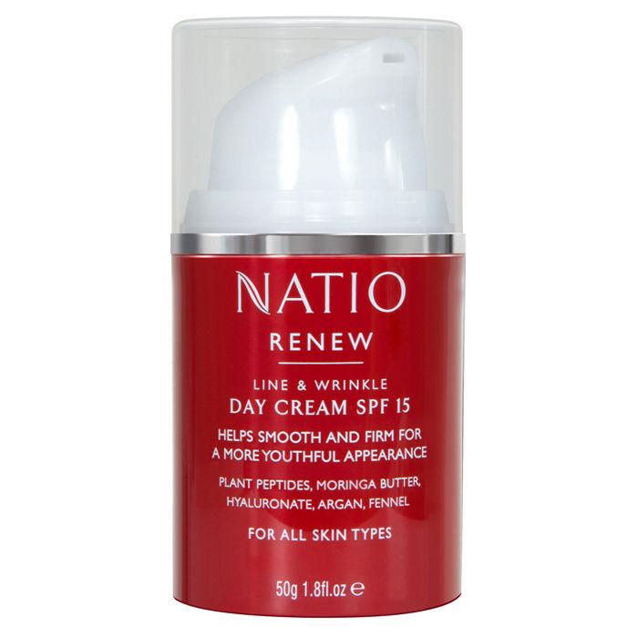 Buy Natio Renew Line & Wrinkle Day Cream SPF 15 (50 g)-Purplle